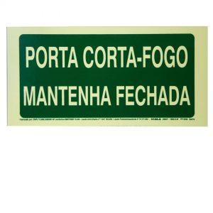 Seta Porta Corta-Fogo Fotoluminescente