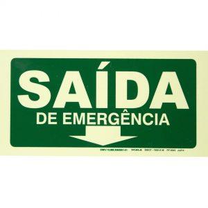 placa de sinalização saída de emergência Munhoz