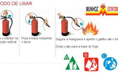 Como usar o extintor