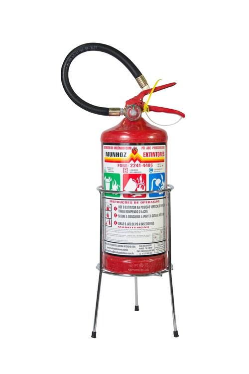 suporte para extintor em ferro